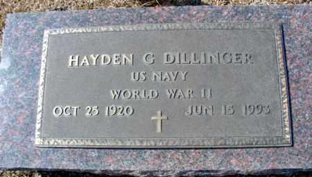 DILLINGER (VETERAN WWII), HAYDEN G - Fulton County, Arkansas | HAYDEN G DILLINGER (VETERAN WWII) - Arkansas Gravestone Photos