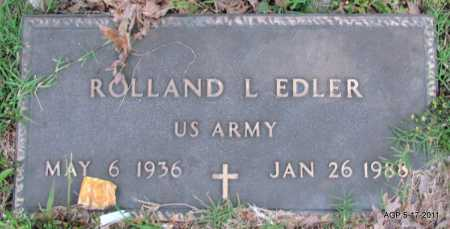 EDLER (VETERAN), ROLLAND L - Fulton County, Arkansas | ROLLAND L EDLER (VETERAN) - Arkansas Gravestone Photos