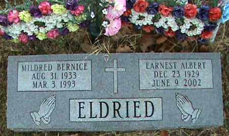 ELDRIED, EARNEST ALBERT - Fulton County, Arkansas | EARNEST ALBERT ELDRIED - Arkansas Gravestone Photos