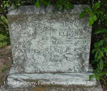 ELKINS, JESSE - Fulton County, Arkansas | JESSE ELKINS - Arkansas Gravestone Photos
