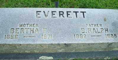 EVERETT, B. RALPH - Fulton County, Arkansas | B. RALPH EVERETT - Arkansas Gravestone Photos