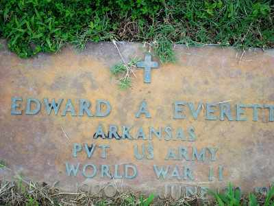 EVERETT  (VETERAN WWII), EDWARD A. - Fulton County, Arkansas | EDWARD A. EVERETT  (VETERAN WWII) - Arkansas Gravestone Photos