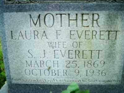 EVERETT, LAURA F. - Fulton County, Arkansas | LAURA F. EVERETT - Arkansas Gravestone Photos