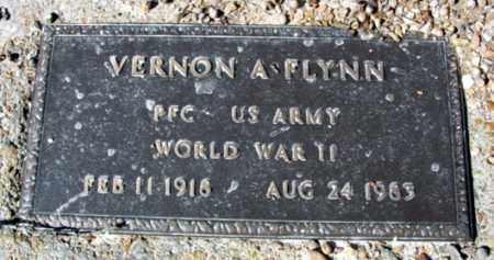 FLYNN (VETERAN WWII), VERNON A - Fulton County, Arkansas | VERNON A FLYNN (VETERAN WWII) - Arkansas Gravestone Photos