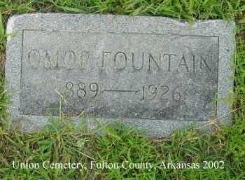 FOUNTAIN, OMOR - Fulton County, Arkansas | OMOR FOUNTAIN - Arkansas Gravestone Photos