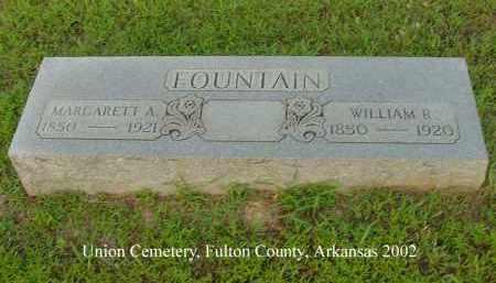 FOUNTAIN, WILLIAM R. - Fulton County, Arkansas   WILLIAM R. FOUNTAIN - Arkansas Gravestone Photos