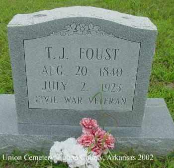 FOUST  (VETERAN), THOMAS J. - Fulton County, Arkansas | THOMAS J. FOUST  (VETERAN) - Arkansas Gravestone Photos