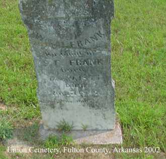FRANK, WILLIAM - Fulton County, Arkansas | WILLIAM FRANK - Arkansas Gravestone Photos