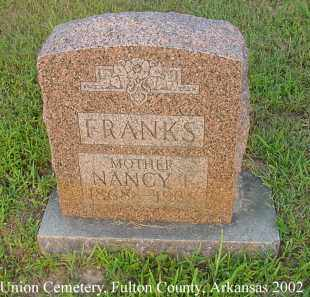 FRANKS, NANCY EVELINE - Fulton County, Arkansas | NANCY EVELINE FRANKS - Arkansas Gravestone Photos