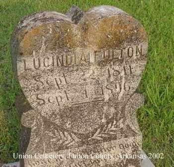 FULTON, LUCINDA - Fulton County, Arkansas | LUCINDA FULTON - Arkansas Gravestone Photos