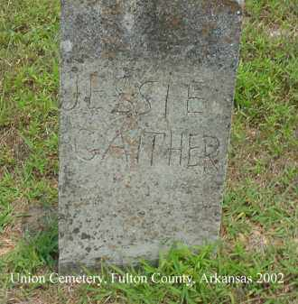 GAITHER, JESSIE - Fulton County, Arkansas | JESSIE GAITHER - Arkansas Gravestone Photos