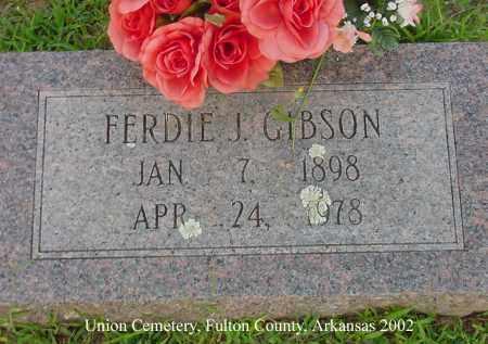 GIBSON, FERDIE J. - Fulton County, Arkansas | FERDIE J. GIBSON - Arkansas Gravestone Photos