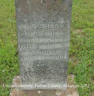 GIBSON, M. J. - Fulton County, Arkansas | M. J. GIBSON - Arkansas Gravestone Photos