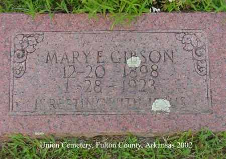 GIBSON, MARY E. - Fulton County, Arkansas | MARY E. GIBSON - Arkansas Gravestone Photos