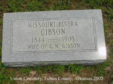 GIBSON, MISSOURI ELVIRA - Fulton County, Arkansas | MISSOURI ELVIRA GIBSON - Arkansas Gravestone Photos