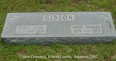 "KEYLON GIBSON, MARY ALBERTA ""BERTIE ANDA"" - Fulton County, Arkansas | MARY ALBERTA ""BERTIE ANDA"" KEYLON GIBSON - Arkansas Gravestone Photos"