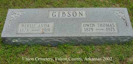 "GIBSON, OWEN THOMAS ""TOM"" - Fulton County, Arkansas 