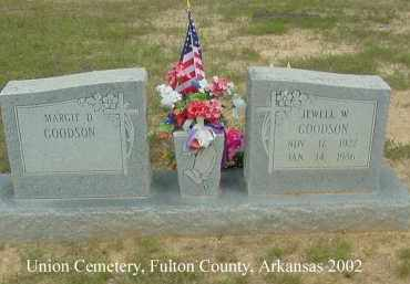 GOODSON, JEWELL W. - Fulton County, Arkansas | JEWELL W. GOODSON - Arkansas Gravestone Photos