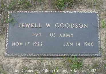 GOODSON  (VETERAN), JEWELL W. - Fulton County, Arkansas | JEWELL W. GOODSON  (VETERAN) - Arkansas Gravestone Photos