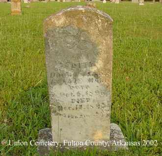 HALL, EDITH - Fulton County, Arkansas | EDITH HALL - Arkansas Gravestone Photos