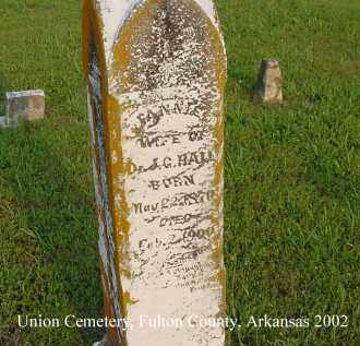 HALL, FANNIE - Fulton County, Arkansas | FANNIE HALL - Arkansas Gravestone Photos