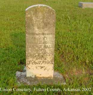 HALL, INFANT SON - Fulton County, Arkansas | INFANT SON HALL - Arkansas Gravestone Photos
