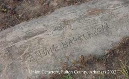 HARKLEROAD, ANNIE - Fulton County, Arkansas | ANNIE HARKLEROAD - Arkansas Gravestone Photos