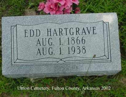 HARTGRAVE, EDD - Fulton County, Arkansas | EDD HARTGRAVE - Arkansas Gravestone Photos