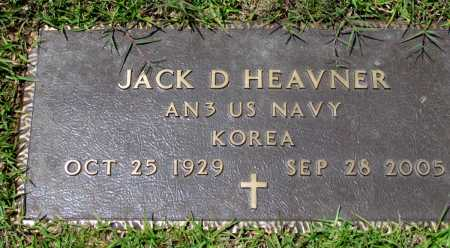 HEAVNER (VETERAN KOR), JACK D - Fulton County, Arkansas | JACK D HEAVNER (VETERAN KOR) - Arkansas Gravestone Photos