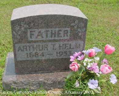 HELM, ARTHUR TRAVIS - Fulton County, Arkansas | ARTHUR TRAVIS HELM - Arkansas Gravestone Photos