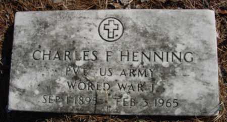 HENNING (VETERAN WWI), CHARLES F - Fulton County, Arkansas | CHARLES F HENNING (VETERAN WWI) - Arkansas Gravestone Photos