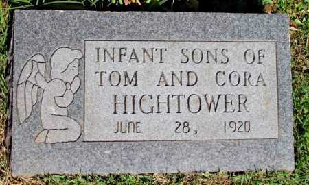HIGHTOWER, INFANT SONS - Fulton County, Arkansas | INFANT SONS HIGHTOWER - Arkansas Gravestone Photos