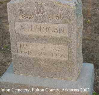HOGAN, A. J. - Fulton County, Arkansas | A. J. HOGAN - Arkansas Gravestone Photos
