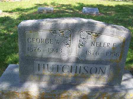 HUTCHISON, GEORGE W. - Fulton County, Arkansas | GEORGE W. HUTCHISON - Arkansas Gravestone Photos