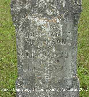 HUTSON, S. M. - Fulton County, Arkansas | S. M. HUTSON - Arkansas Gravestone Photos