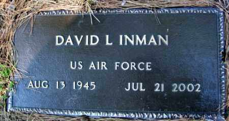 INMAN (VETERAN), DAVID L - Fulton County, Arkansas | DAVID L INMAN (VETERAN) - Arkansas Gravestone Photos