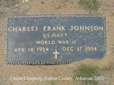 JOHNSON  (VETERAN WWII), CHARLES FRANK - Fulton County, Arkansas | CHARLES FRANK JOHNSON  (VETERAN WWII) - Arkansas Gravestone Photos
