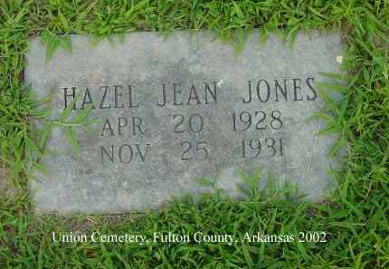 JONES, HAZEL JEAN - Fulton County, Arkansas | HAZEL JEAN JONES - Arkansas Gravestone Photos