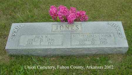 JONES, JOHN W. - Fulton County, Arkansas | JOHN W. JONES - Arkansas Gravestone Photos