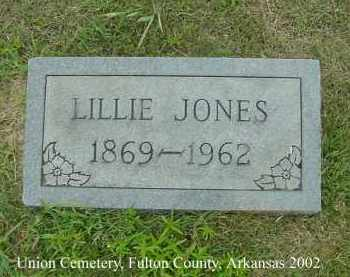 JONES, LILLIE - Fulton County, Arkansas | LILLIE JONES - Arkansas Gravestone Photos