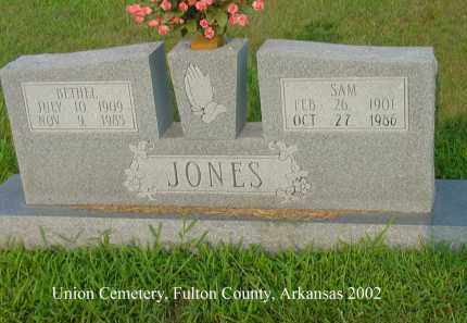 JONES, SAM - Fulton County, Arkansas | SAM JONES - Arkansas Gravestone Photos