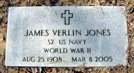 JONES (VETERAN WWII), JAMES VERLIN - Fulton County, Arkansas | JAMES VERLIN JONES (VETERAN WWII) - Arkansas Gravestone Photos