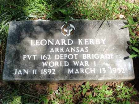 KERBY  (VETERAN WWI), LEONARD - Fulton County, Arkansas | LEONARD KERBY  (VETERAN WWI) - Arkansas Gravestone Photos