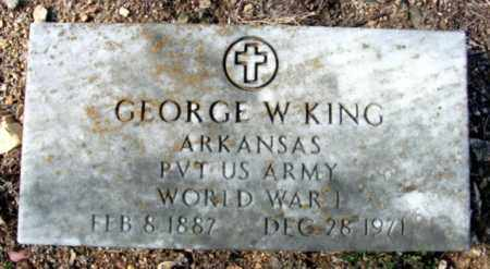KING (VETERAN WWI), GEORGE W - Fulton County, Arkansas | GEORGE W KING (VETERAN WWI) - Arkansas Gravestone Photos