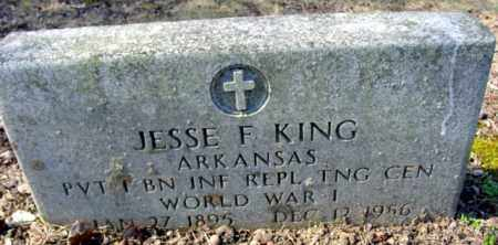 KING (VETERAN WWI), JESSE F - Fulton County, Arkansas | JESSE F KING (VETERAN WWI) - Arkansas Gravestone Photos