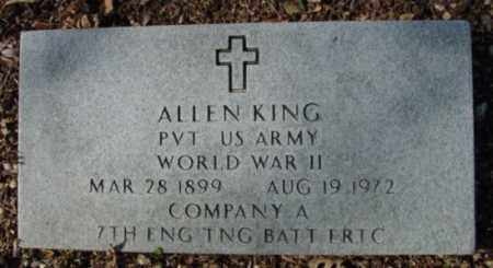 KING (VETERAN WWII), ALLEN - Fulton County, Arkansas | ALLEN KING (VETERAN WWII) - Arkansas Gravestone Photos