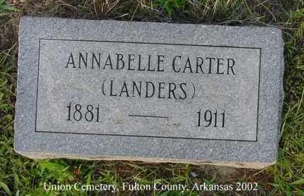 LANDERS, ANNABELLE - Fulton County, Arkansas | ANNABELLE LANDERS - Arkansas Gravestone Photos