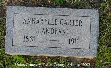 "CARTER LANDERS, ANNABELLE ""BELLE"" - Fulton County, Arkansas 