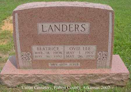 FRANKS LANDERS, BEATRICE - Fulton County, Arkansas | BEATRICE FRANKS LANDERS - Arkansas Gravestone Photos