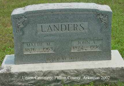 "LANDERS, MARGARET MAE ""MATTIE"" - Fulton County, Arkansas 